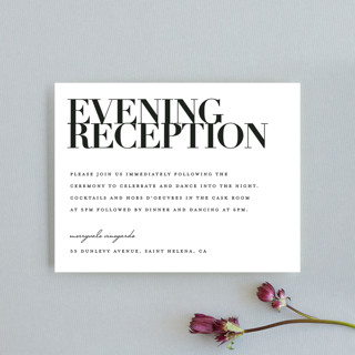 The Minimalist Reception Cards