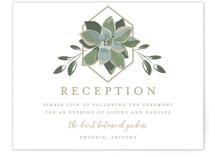 Succulent Surround Reception Cards