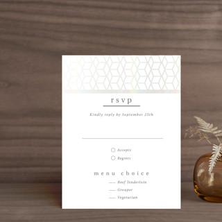 Geometric Pattern Gloss-Press™ RSVP Cards