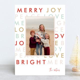 Modern Type Christmas Photo Cards