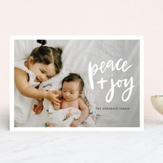 Peace And Joy Christmas Photo Cards