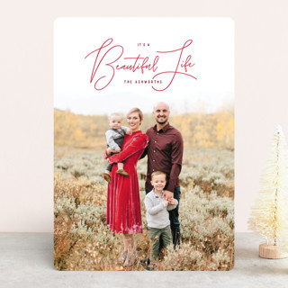 Truly Wonderful Life Christmas Photo Cards