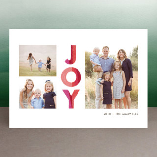Colorblock Joy Christmas Photo Cards