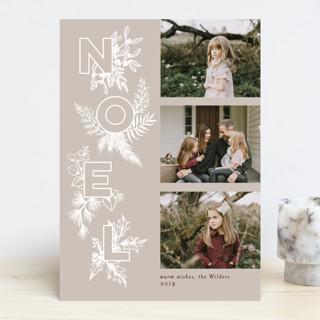 Botanical Noel Christmas Photo Cards