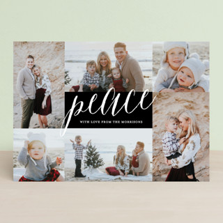 Peace Overflowing Christmas Photo Cards