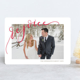 Rejoicing Christmas Photo Cards