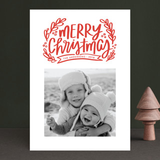 Merry Little Branches Christmas Photo Cards