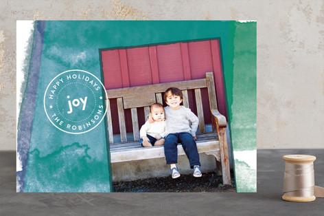 Joyful Watercolor Christmas Photo Cards