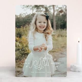 Joyful Holiday Christmas Photo Cards