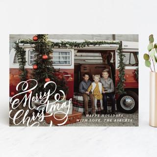 Merry Flourish Christmas Photo Cards
