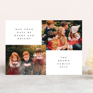 classic nature Christmas Photo Cards