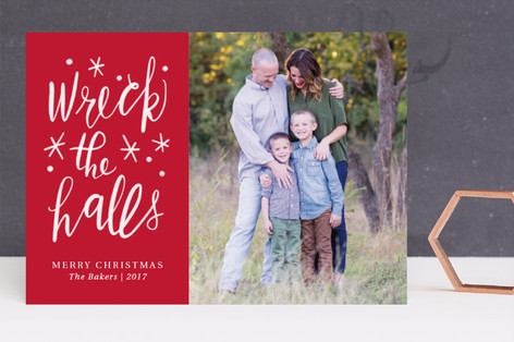 Wrecking the Halls Christmas Photo Cards