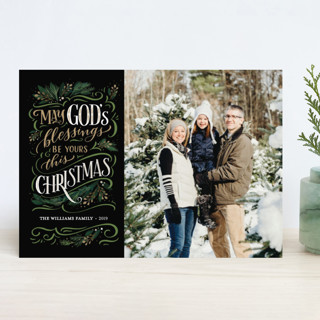God's Blessings Christmas Photo Cards