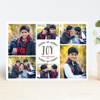 Festive Berry Joy Christmas Photo Cards