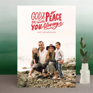 Peace Always Christmas Photo Cards