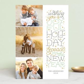 Joyful Lettering Christmas Photo Cards