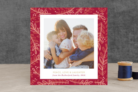 Love, Faith, Peace Christmas Photo Cards