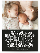 Stacked Rejoice Christmas Photo Cards