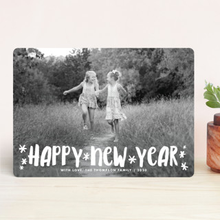 Fun Happy Type New Year's Photo Cards