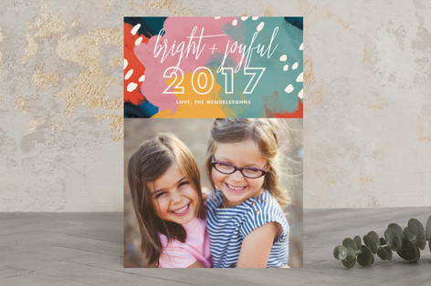 Bright and Joyful New Year's Photo Cards