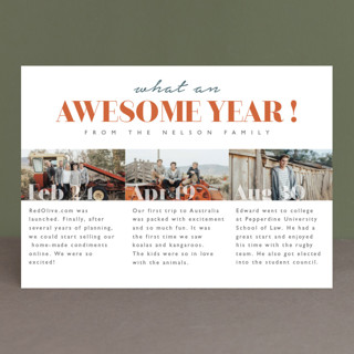 What an awesome year New Year's Photo Cards