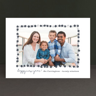 New Year Garland New Year's Photo Cards