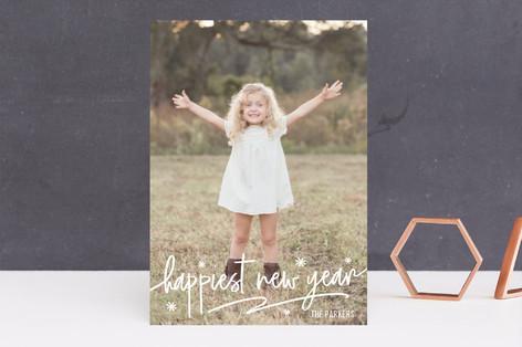 Fun Script New Year's Photo Cards