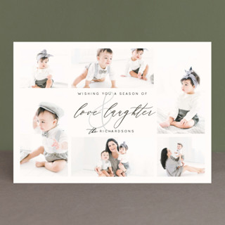 Love and Laughter New Year's Photo Cards