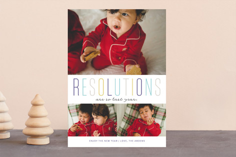 Last Year Resolutions New Year's Photo Cards