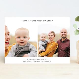 Minimalist New Year's Photo Cards