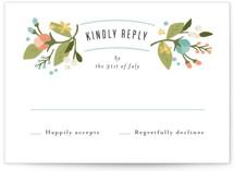 Floral Ampersand RSVP Postcards
