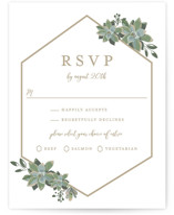 Succulent Surround RSVP Postcards