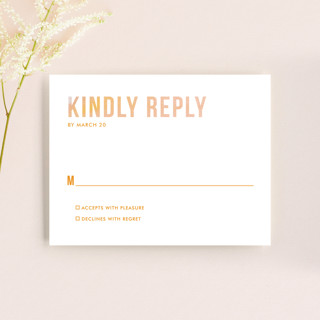 Ombre RSVP Cards