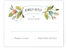 Floral Ampersand RSVP Cards