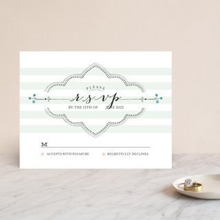 Striped Sweet Nothings RSVP Cards