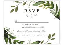 Vines of Green RSVP Cards