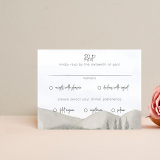 muted mountains RSVP Cards