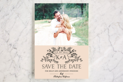 Wedding Bouquet Save the Date Cards