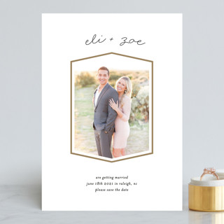 Classic Geometry Save the Date Cards