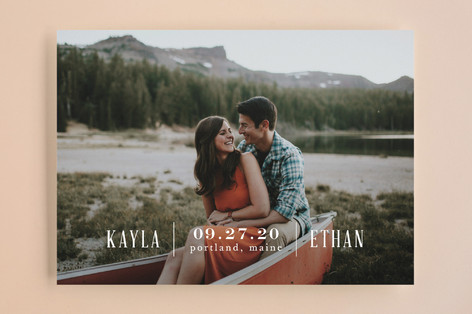 Marquee Save the Date Cards