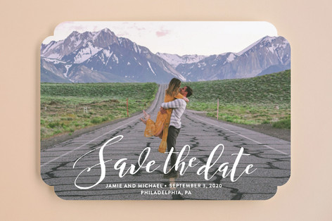 Scripted Romance Save the Date Cards