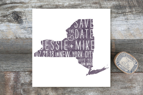 State Stamp - New York Save the Date Cards