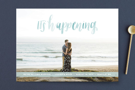It's Happening Save the Date Cards