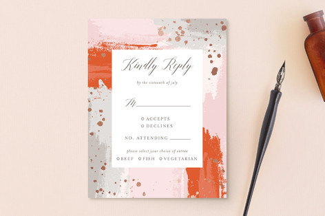 The Artist's Wedding Foil-Pressed RSVP Cards