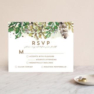 Bohemian Beauty Foil-Pressed RSVP Cards