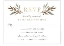 Shade Garden Foil-Pressed RSVP Cards