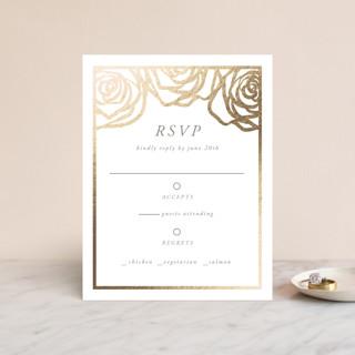 Rose Box Foil-Pressed RSVP Cards