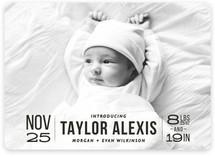 Bold Beginnings Birth Announcements