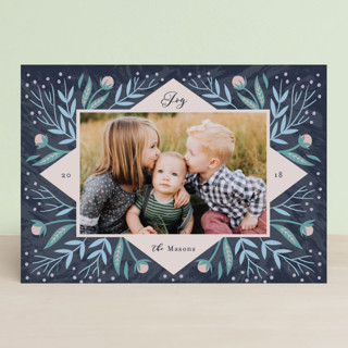 Periwinkle Holiday Photo Cards