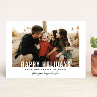 From Our Family Holiday Photo Cards